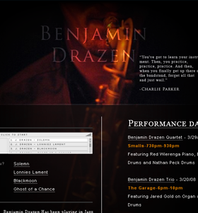 Recent work screenshot- Benjamin Drazen